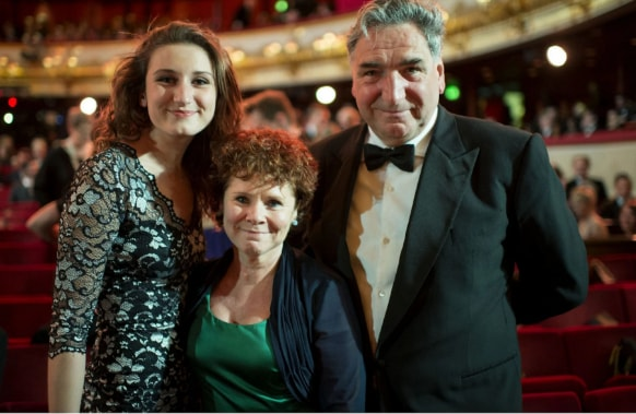 Bessie Carter with her father Jim Carter and mother Imelda Staunton - Courtesy of telegraph.co.uk