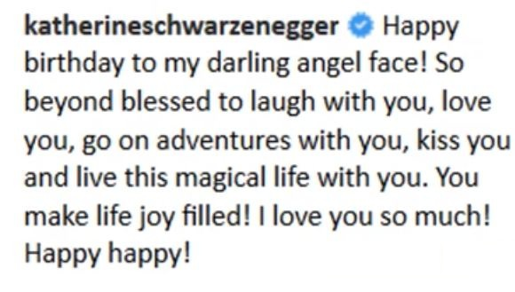 Katherine Schwarzenegger tweet